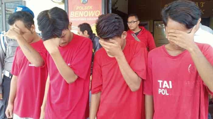 4 Warga Bulak Banteng Diringkus Polisi saat Asyik Pesta Sabu, Sudah Diintai Polisi Selama 3 Hari
