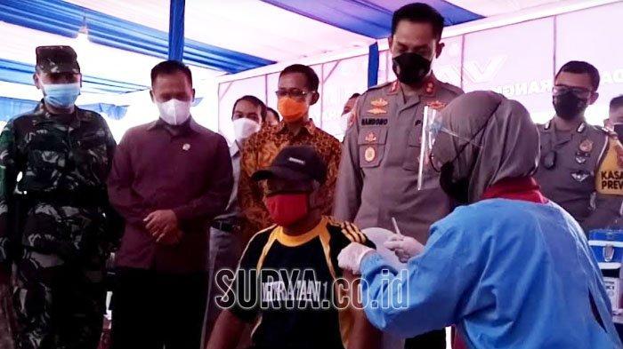 Jangkau Tuna Wisma, Kapolres Tulungagung Fokus Kejar Target 50 Persen Vaksinasi Covid-19
