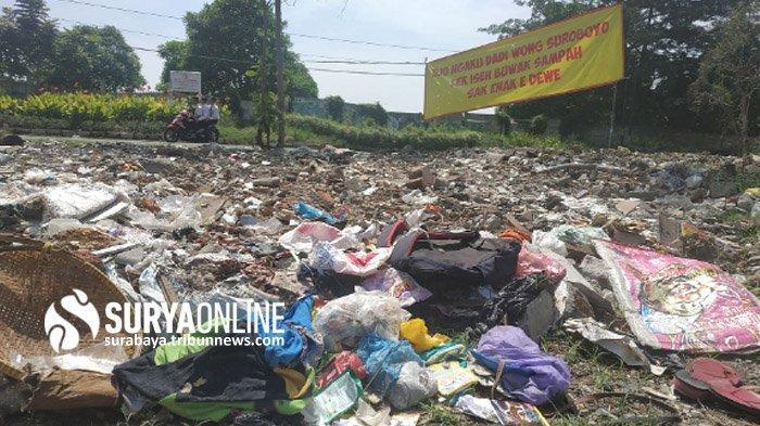 Banyak Warga dari Luar Buang Sampah, Warga Dukuh Kupang Timur I Surabaya Keluhkan Tumpukan Sampah