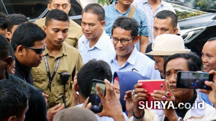 Kunjungi Surabaya, Sandiaga Uno Ingin Pastikan Pemilu Bermartabat