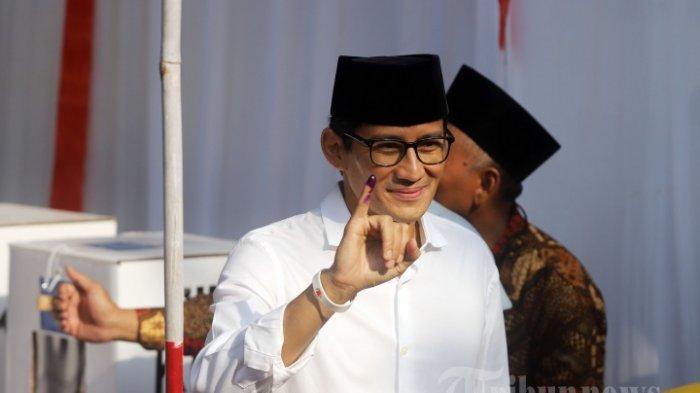Pesan Prabowo Ini yang Disampaikan Sandiaga Uno Saat Sambang ke Rumah Anggota KPPS yang Meninggal