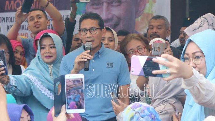 Kunjungi Kota Malang, Sandiaga Uno Bahas Masalah Ekonomi dan Kasus Anggota Dewan