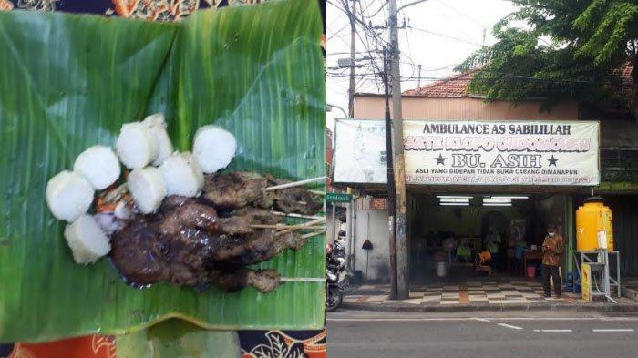 Asap dan Aroma Tanda Sate Ondomohen di Jalan Walikota Mustajab Kota Surabaya