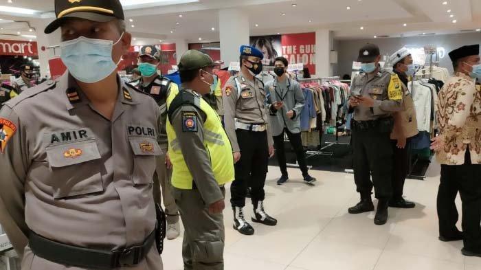 Jelang Lebaran 2021, Satgas Covid 19 kembali AwasiKeramaian Pengunjung Mall di Kediri