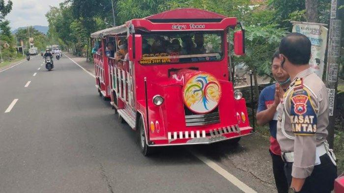 Satlantas Polres Ponorogo Tindak Tegas Kereta Kelinci yang Masih Beroperasi di Jalan Umum