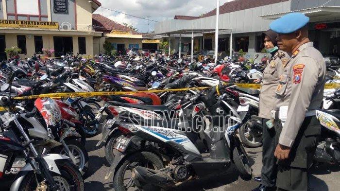 Razia Balapan Liar di Kabupaten Pamekasan, Polisi Sita 113 Sepeda Motor