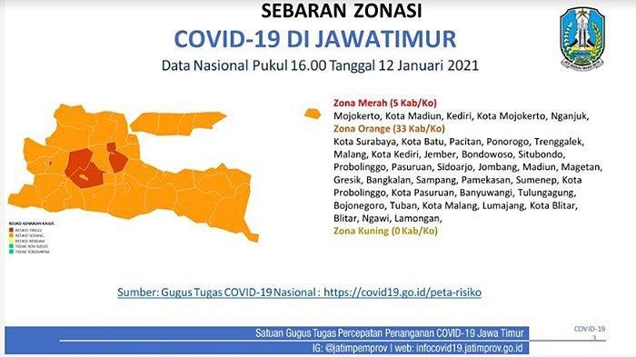 Zona Merah Penyebaran Covid-19 di Jawa Timur Bertambah, Daerah Wajib PPKM Berpotensi Diperluas