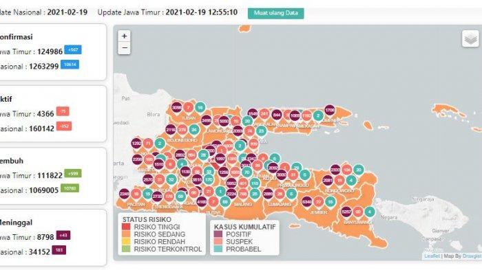 Sebaran virus corona di Surabaya dan Jawa Timur, Sabtu 20 Februari 2021