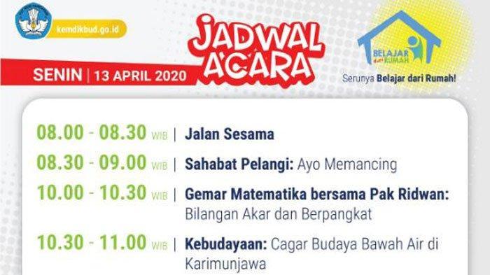 Sedang Berlangsung Live Streaming Tvri Program Belajar Di Rumah Ini Jadwal Sampai 19 April 2020 Surya
