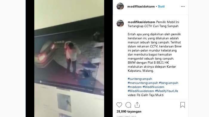 SEDANG VIRAL Video Pengemudi BMW Curi Bak Sampah di Kantor Jasa Konsultan Malang, Lihat Aksinya