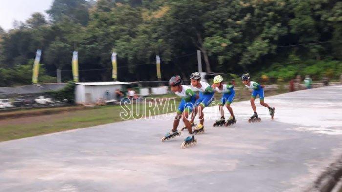 Sirkuit Sepatu Roda di Kawasan Wisata Tambuh Raya Idaman Kabupaten Lumajang