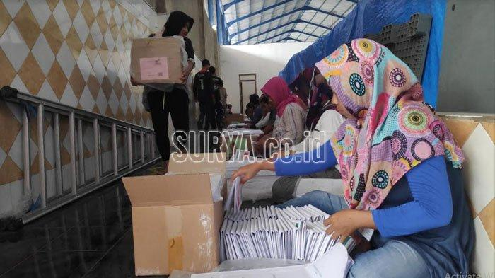 KPU Tuban Telah Terima Sisa Surat Suara Pemilu 2019 yang Kurang, Segini Jumlahnya