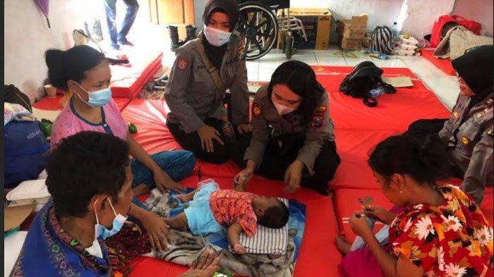 Polres Nganjuk Aktif Bantu Trauma Healing kepada Warga Terdampak Bencana Longsor