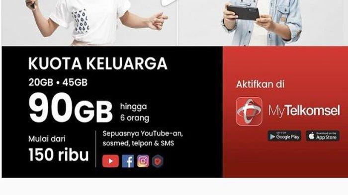 selain kuota internet gratis telkomsel juga ada paket kuotakeluarga 90 gb bisa untuk 6 orang