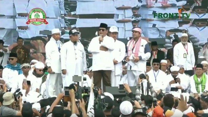Prabowo Kritik Pers usai Reuni Akbar Alumni 212, TKN Jokowi-KH Maruf Amin : Prabowo Emosi