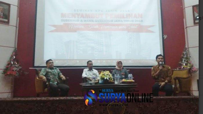Gandeng Untag 45 Surabaya, KPU Jatim Gelar Seminar tentang Mekanisme Pemilu dan Partisipasi Pemilih