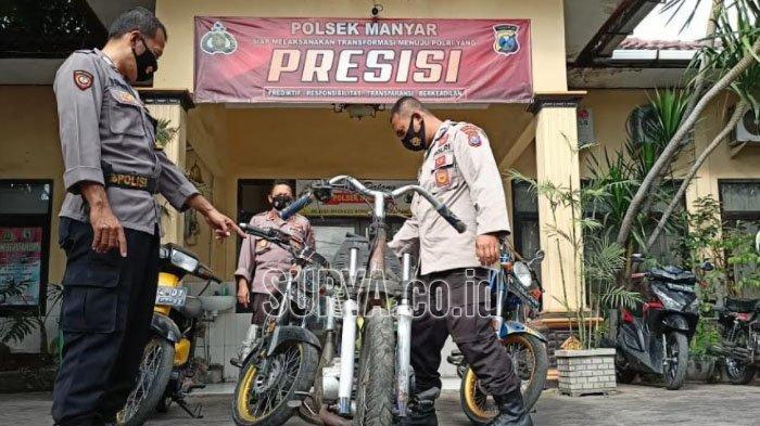 Polsek Manyar Gresik Gagalkan Balap Liar Jelang Sahur, Sita Sejumlah Sepeda Motor