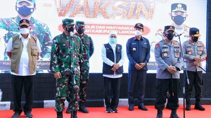 Khofifah: Terima Kasih Panglima TNI dan Kapolri, Serbuan Vaksinasi Bantu Warga Jatim Lawan Covid-19