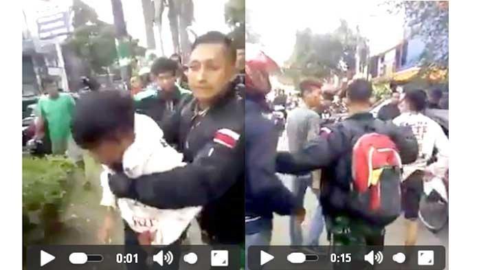 VIDEO - Pahlawan! Rekaman TNI Serda Rohmat Membekuk Pelaku Curanmor, Selamatkan dari Amuk Massa