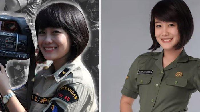 Sertu (K) Rizka Nurjanah, prajurit TNI AD yang telah membuat Kepala Staf Angkatan Darat (KSAD) Jenderal Andika Perkasa menangis