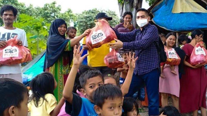 SIG Bantu Kebutuhan Pokok dan Medis Korban Gempa di Mamuju, Sulawesi Barat