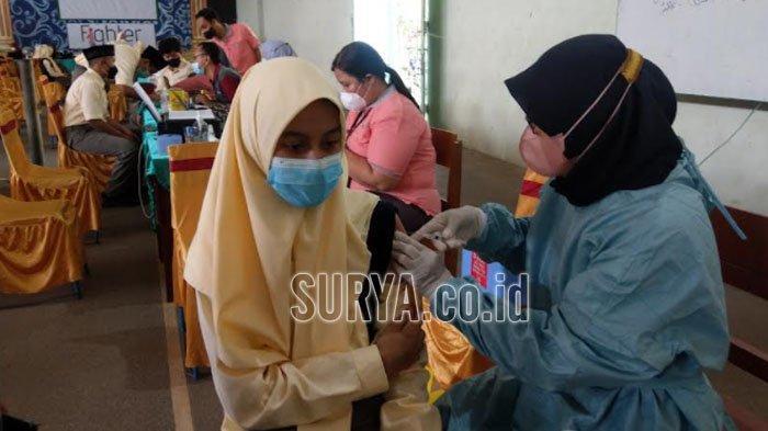Vaksinasi Covid-19 Pelajar SMP di Trenggalek Capai 87 Persen