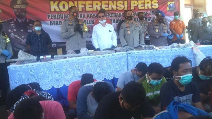 Puluhan Tersangka Pengeroyokan dan Perusakan di Situbondo Diancam Pasal Berlapis