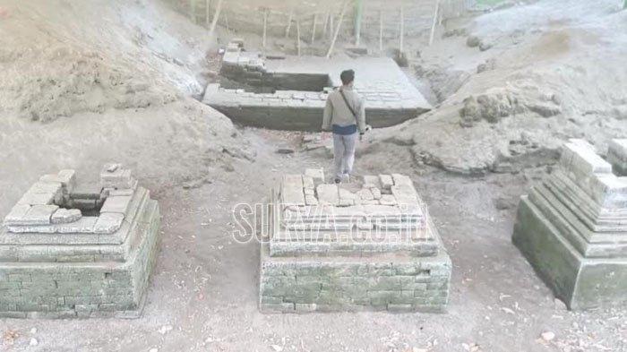 Melihat dari Dekat Temuan Situs Candi di Desa Tunglur Kecamatan Badas Kabupaten Kediri