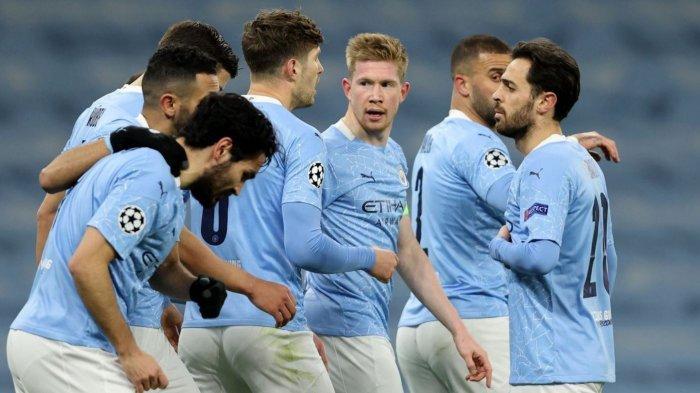 Manchester City berhasil mengamankan tiket Semifinal Liga Champions, Kamis (15/4/2021)