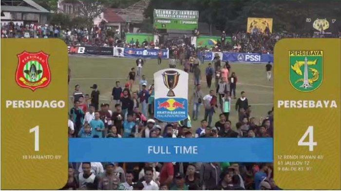 Skor Akhir Persebaya Surabaya vs Persidago Gorontalo 4-1, Satu Kaki Green Force ke Perempat Final