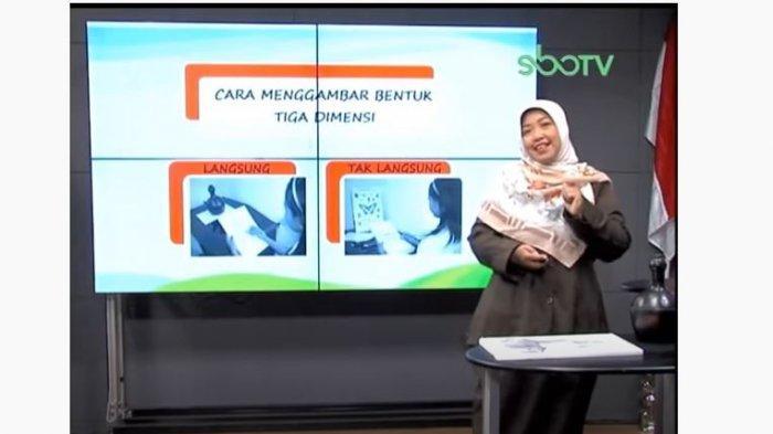 Soal dan Jawaban SD Kelas 4 SBO TV Hari ini Senin 28 September 2020: Buatlah Gambar Tiga Dimensi