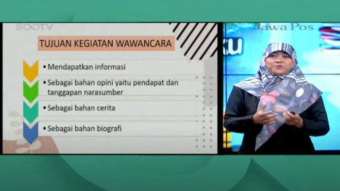 Soal dan Jawaban SBO TV SD Kelas 4 Jumat 16 April: Jelaskan Apa yang Dimaksud dengan Wawancara