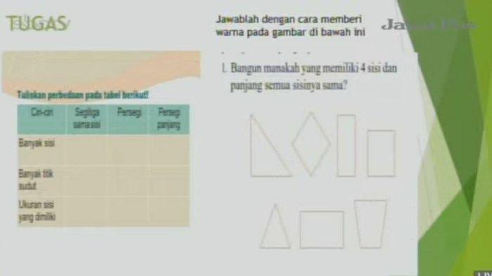 Soal SD Kelas 3 SBO TV, Senin (26/4/2021)