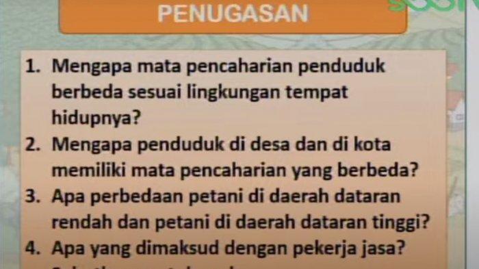 soal SD Kelas 4 SBO TV, Rabu (9/3/2021)
