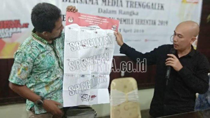 Jelang Coblosan Pemilu 2019, KPU Trenggalek Masih Tunggu Kekurangan Surat Suara 11.009 Lembar