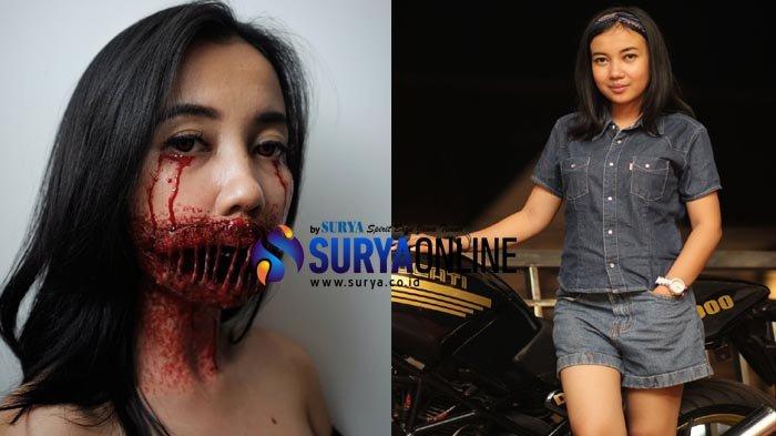 Sosok - Alfianti Fauziah, Kepincut Prosthetics Make Up, Dandanan Horor
