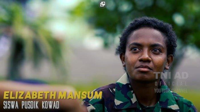 Sosok Elizabeth Mansum Prajurit TNI AD Wanita yang Sempat Ditentang Orangtua, Perjuangannya Haru