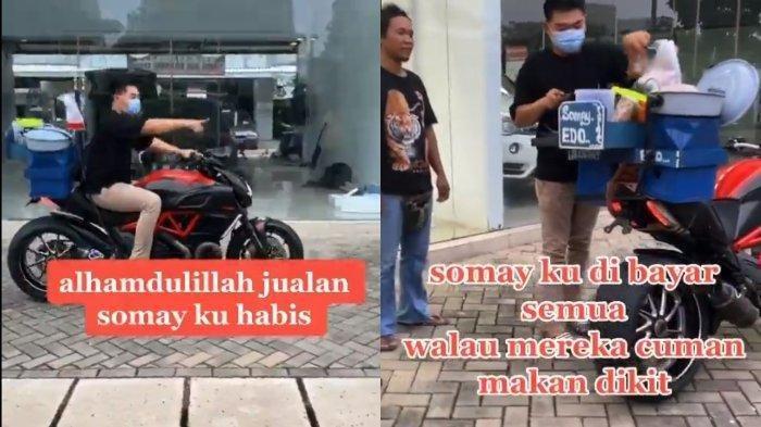 Sosok Penjual Siomay yang Pakai Moge Ducati, Terungkap Fakta di Balik Video Viral di TikTok