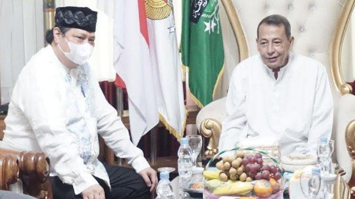 Menko Airlangga Hartarto Silaturahmi Kediaman Habib Luthfi Pekalongan : Beliau Orangtua Kita