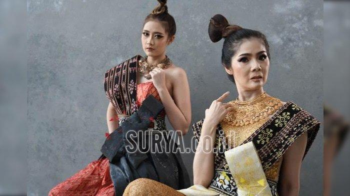 Kain Khas NTT di Tangan Desainer Stephanie Zang, Jadi Gaun Pesta Etnik Nan Elegan