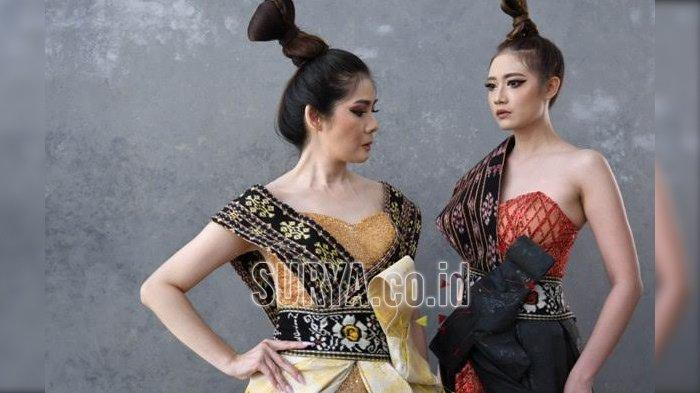 Stephanie Zang membawa Kain Sabu dari kepulauan Nusa Tenggara Timur (NTT) untuk dibuat sebagai gaun pesta yang elegan.