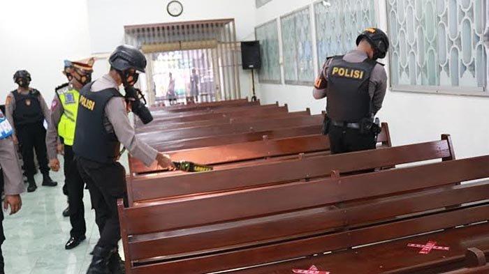 Jelang Paskah, Pengamanan Gereja di Bojonegoro Diperketat, Polisi Tak Mau Kecolongan Teror Bom