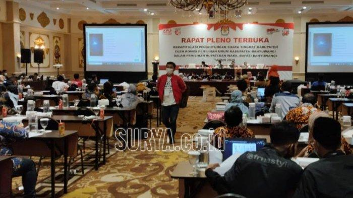 Pleno Rekapitulasi Suara KPU : Ipuk-Sugirah Menang Pilkada Banyuwangi 2020