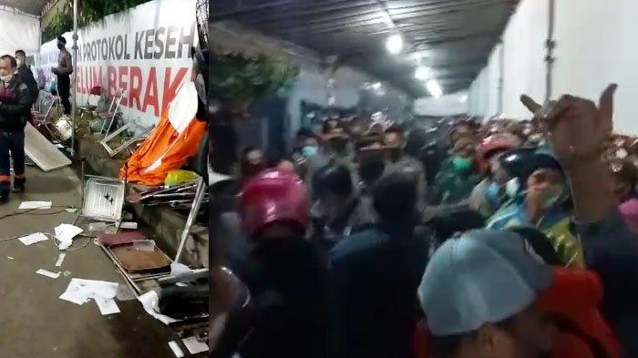 Suasana di pos penyekatan Suramadu warga berebut KTP