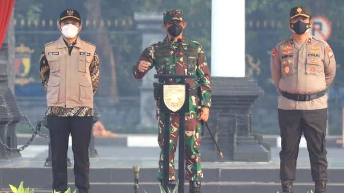 Gelar Apel Kesiapan PPKM Darurat, Pangdam: Jatim Penyumbang TertinggiAngka Kematian di Indonesia