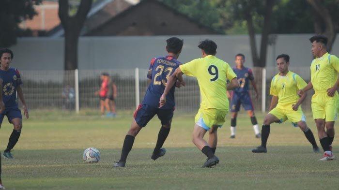 Persedikab Kediri Menang Telak 8 - 0 dalam Laga Uji Coba Lawan Klub Lokal Putra Utama