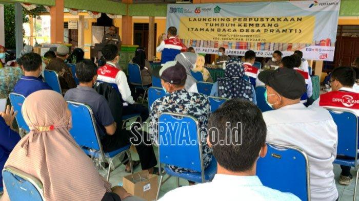Launching Taman Baca Desa Pranti Kabupaten Sidoarjo, Dorong Literasi Lewat Perpustakaan Desa