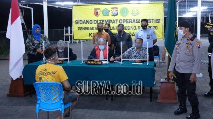 Jelang Libur Natal dan Tahun Baru, Gencarkan Operasi Yustisi Prokes di Kabupaten Sidoarjo