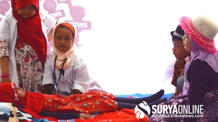 Sambut Hari Pers Nasional, KB TK Al Falah Surabaya Kenalkan Profesi Wartawan kepada Anak-anak