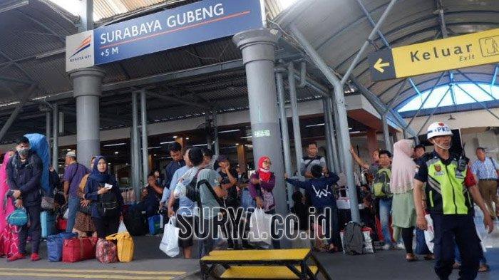 Tiket KA Mudik Lebaran 2020 KAI Daop 8 Surabaya di Hari H Idul Fitri Terjual 10.517 Lembar